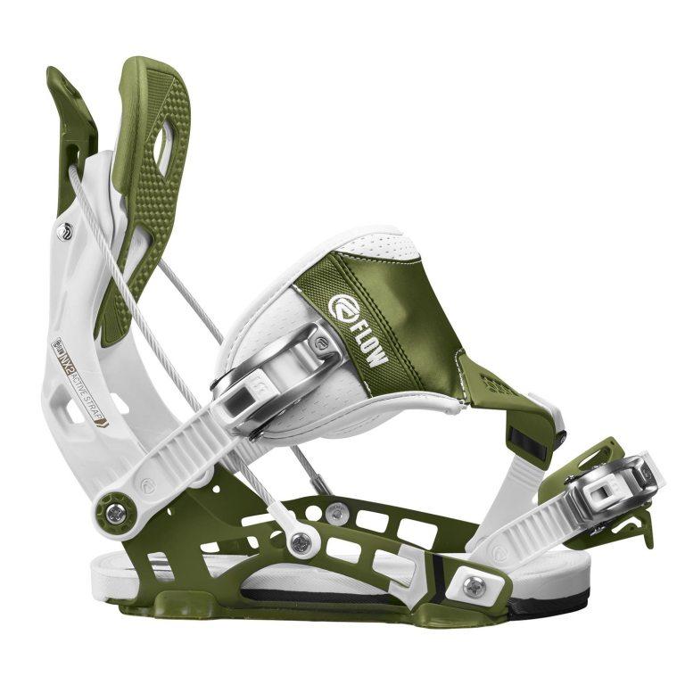 Snowboardové vázání Flow NX2 Hybrid 1617 bílázelená