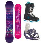 Snowboardový komplet Gravity Electra + G2 + Aura 1516