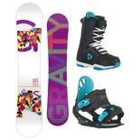 Snowboardový komplet Gravity Sirene + G1 + Aura 1516