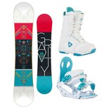 Snowboardový komplet Gravity Thunder + G2 + Aura 1516
