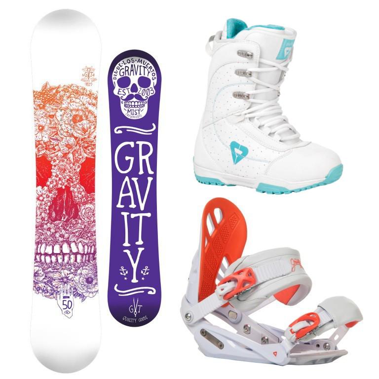 Snowboardový komplet Gravity Mist + G1 + Aura 1617