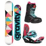 Snowboardový komplet Gravity Trinity + G3 + Sage 1617
