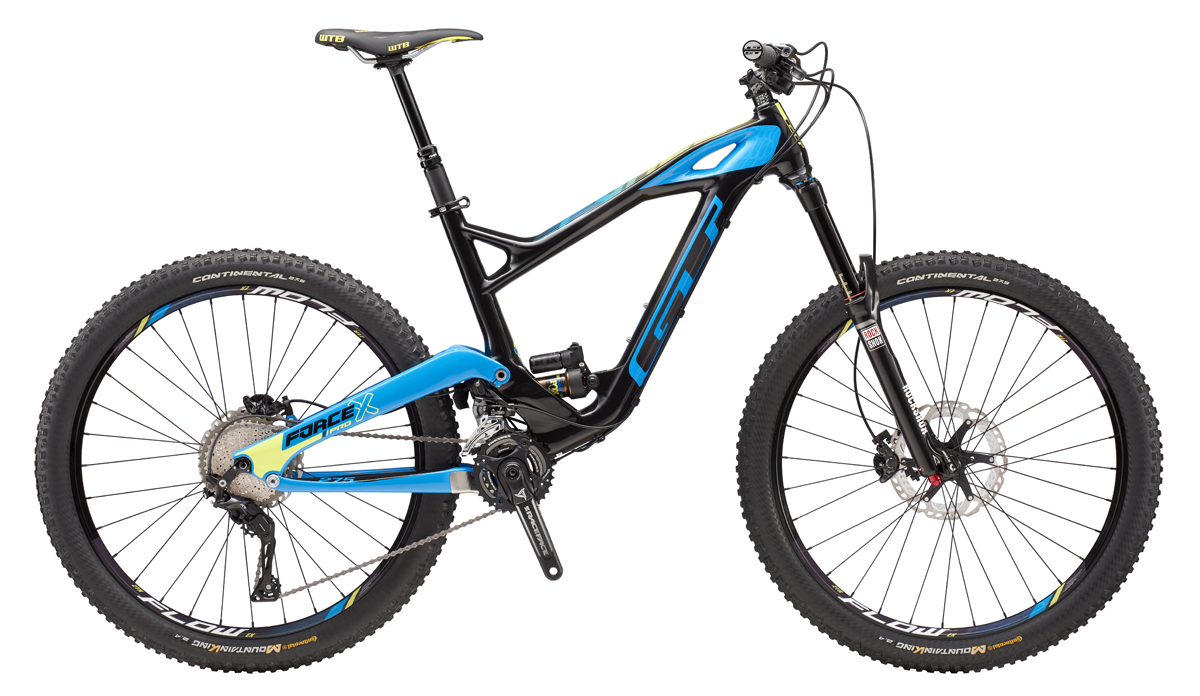 Celoodpružené horské kolo GT Force X 27,5 Carbon Pro 2016