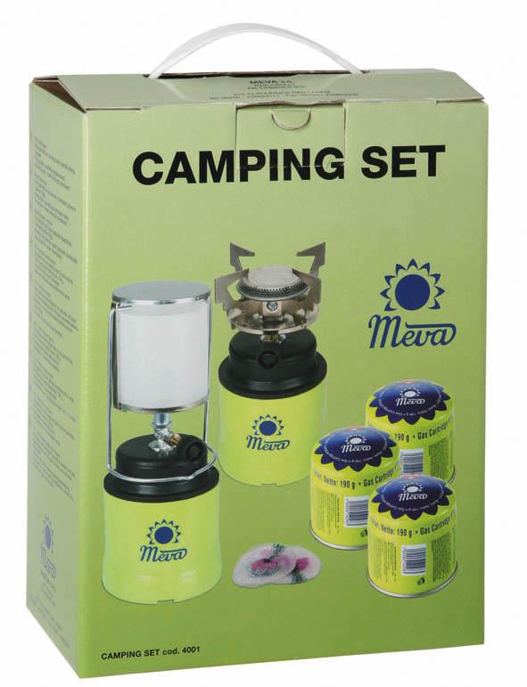 Camping set Meva plynový vařič + lampa